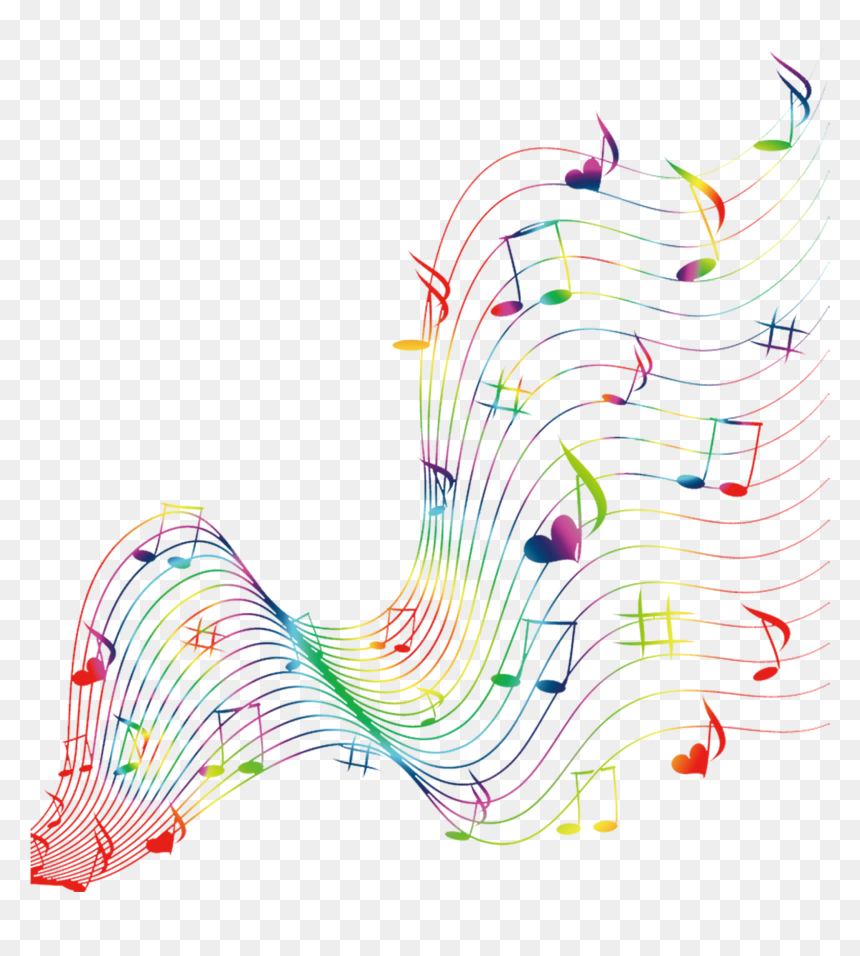 Colour Music Notes Png Transparent Png Vhv