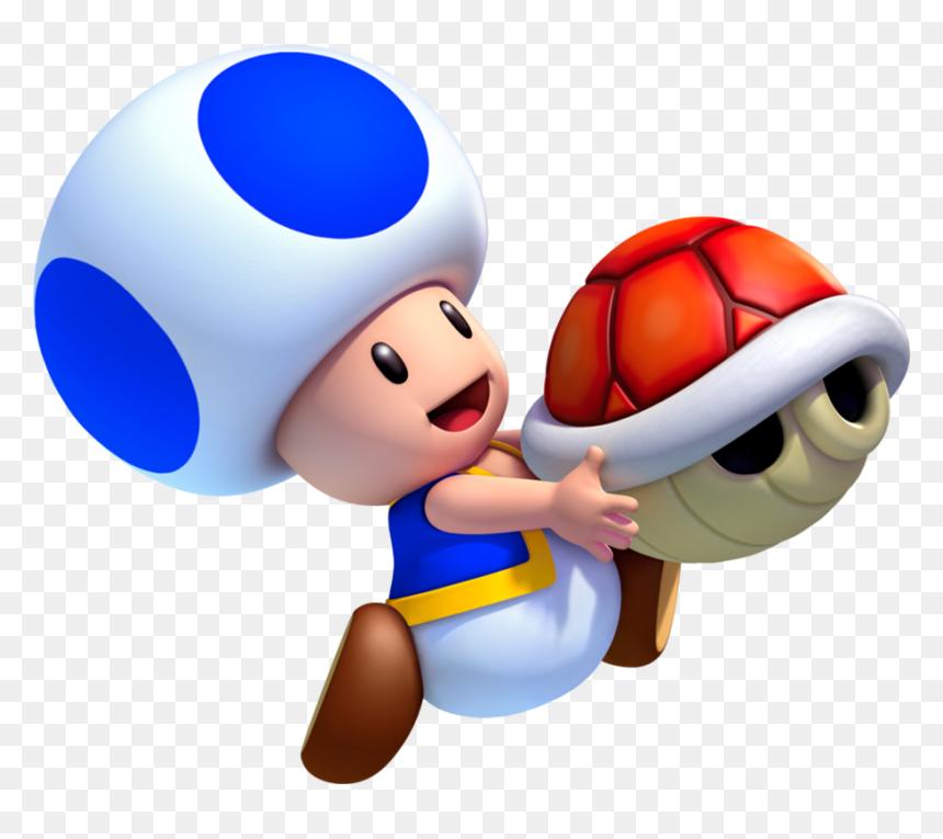 New Super Mario Bros U Blue Toad Hd Png Download Vhv