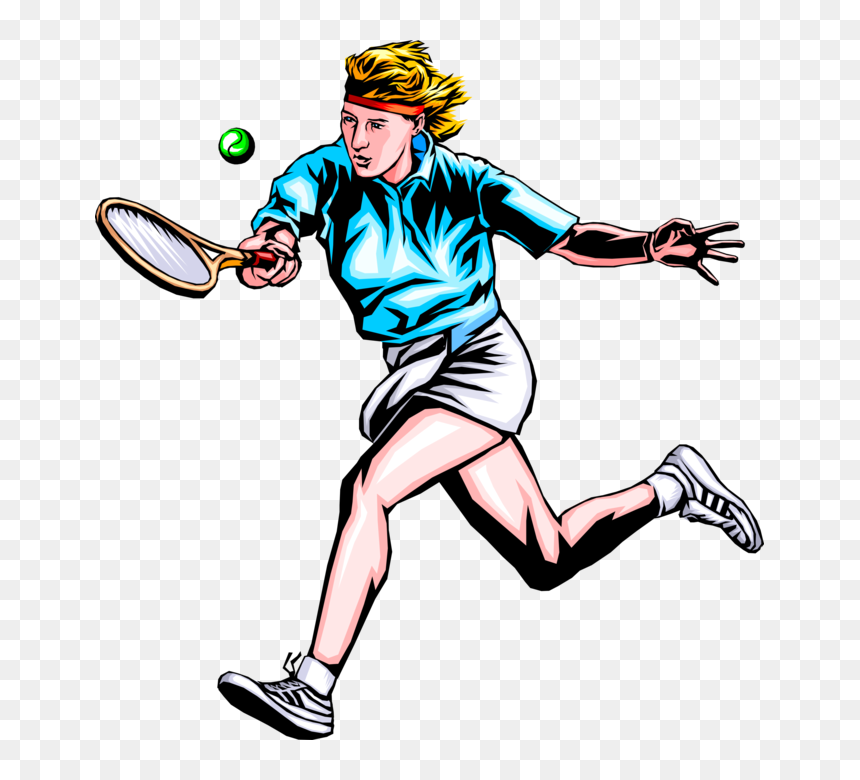 Woman Playing Tennis Clipart Hd Png Download Vhv