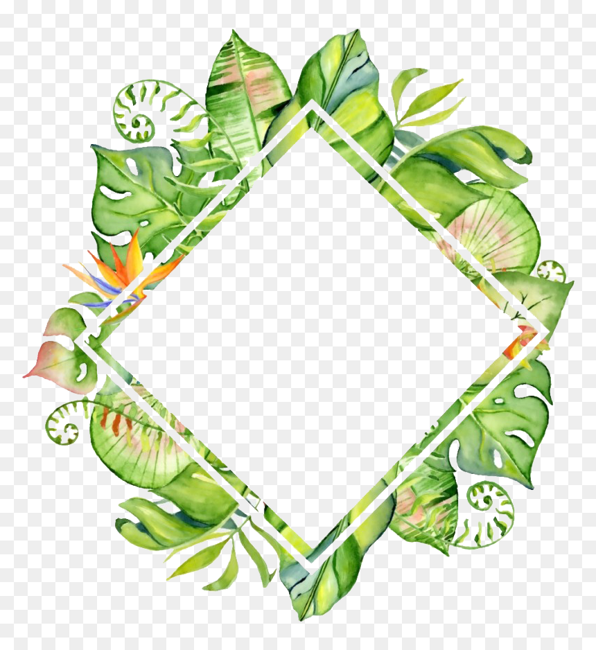 Tropical Leaves Border Png Transparent Png Vhv Pastel tropical palm leaves and bamboo green mauve beige by kathy ireland wallpaper border nl57002b. tropical leaves border png transparent