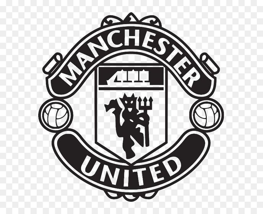 Manchester United Logo Black And White Hd Png Download Vhv