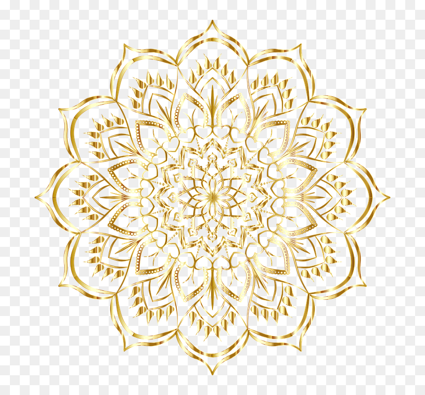 mandala gold floral flourish decorative ornamental vektor bunga islami png transparent png vhv mandala gold floral flourish