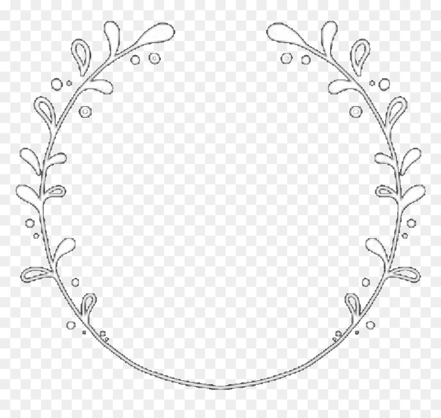 Circle Circleframe Circleborder Frame Border White Aesthetic Circle Border Png Transparent Png Vhv