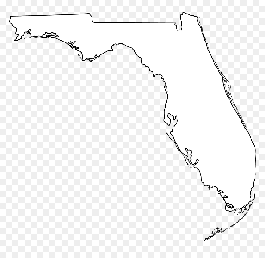 Shape Of Florida On Map Usa Map State Of Florida Clipart   Florida Shape On Map, HD Png