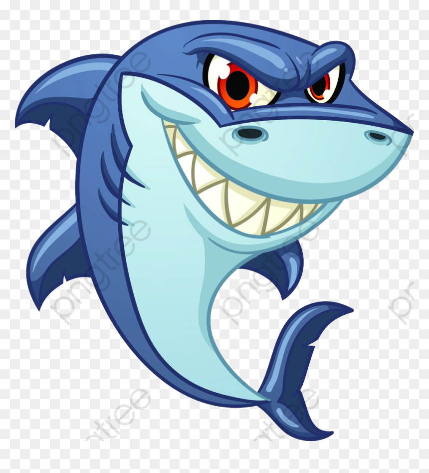Baby Shark Clipart Animated Evil Shark Clip Art Hd Png Download Vhv