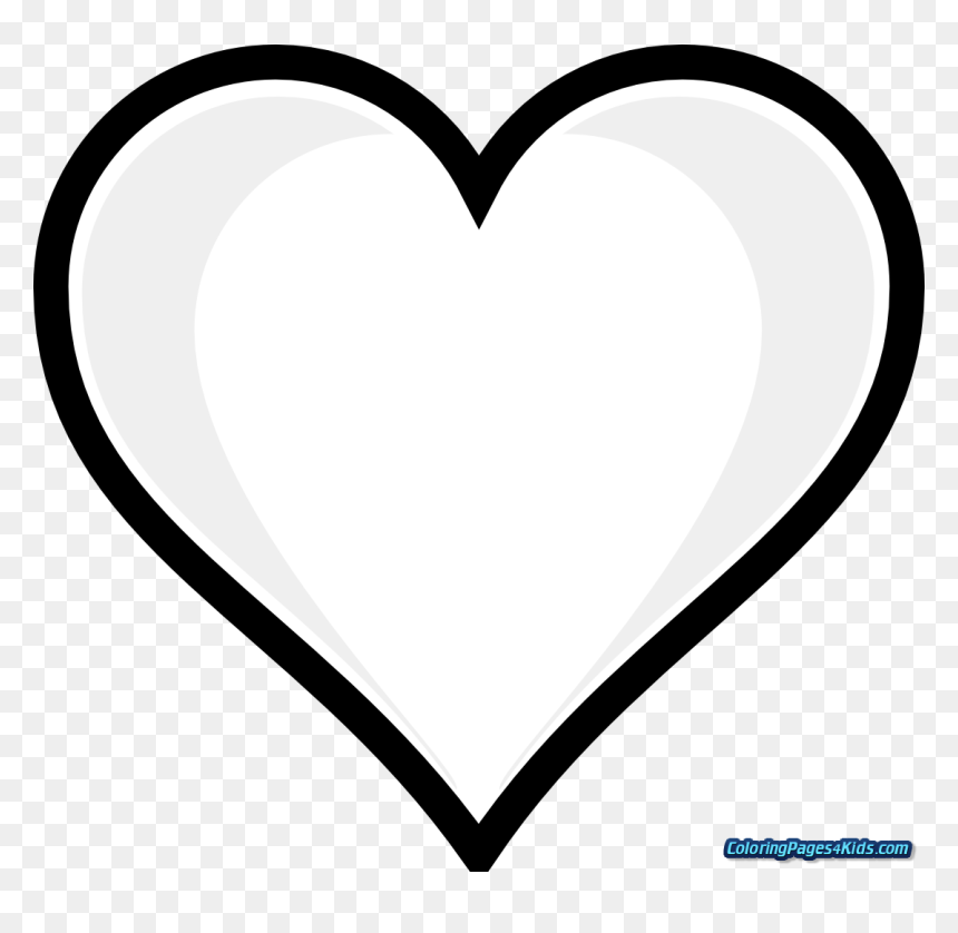 Heart On Fire Printable Coloring Pages With Hearts Full Page Heart Printable Hd Png Download Vhv