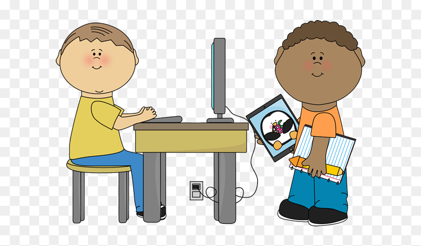 Classroom Clipart Free Clip Art Teacher And Student Spot The Difference Computer Hd Png Download Vhv