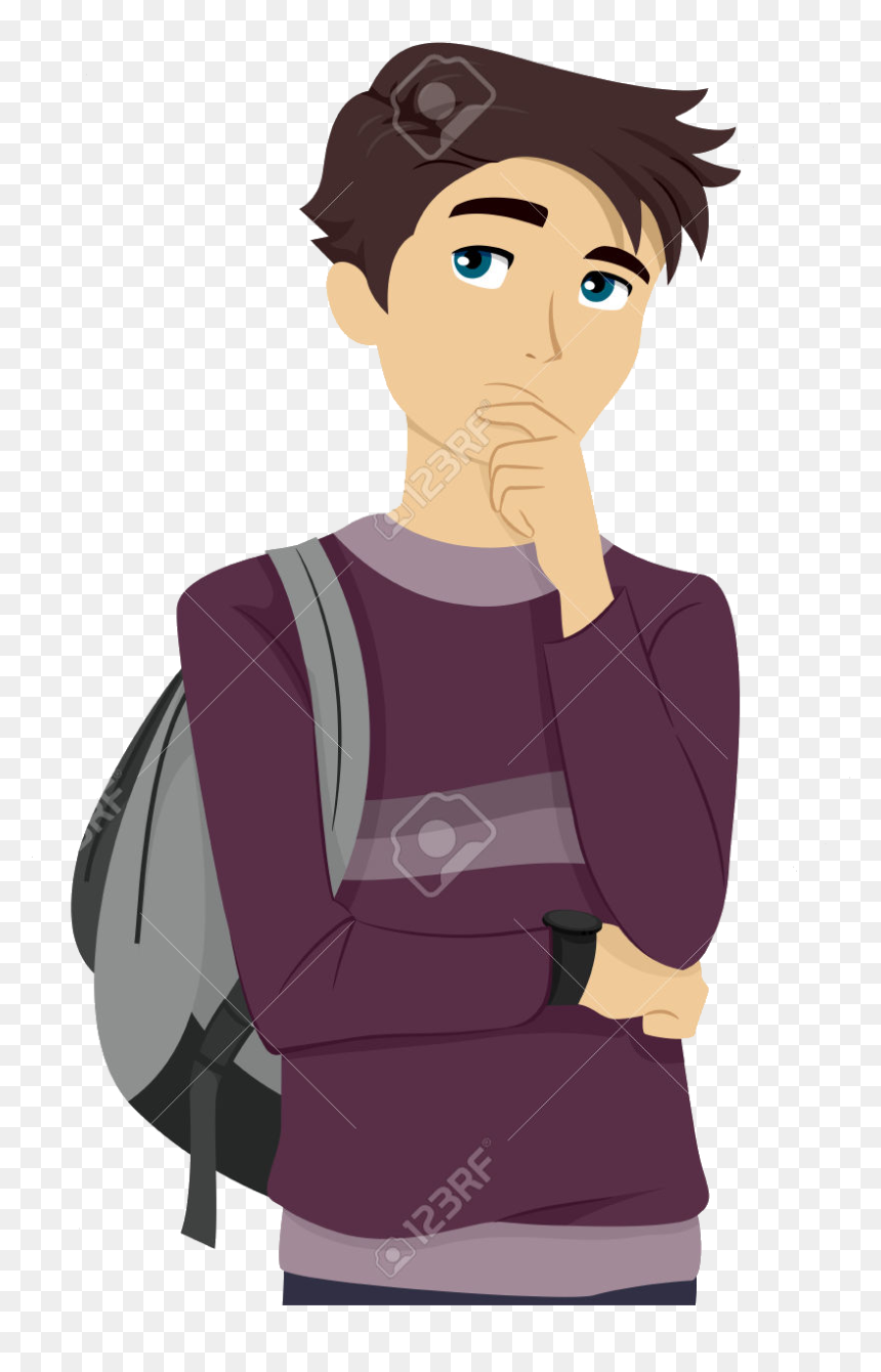College Student Thinking Clipart Abeoncliparts Cliparts ...