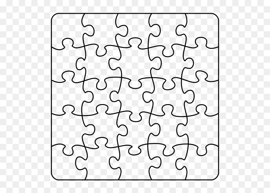 Jigsaw Puzzle A4 5 X Transparent Background Png Download Puzzle