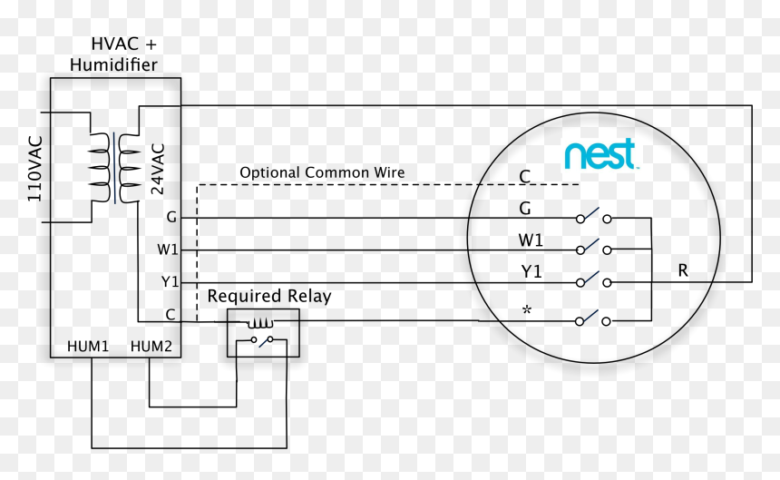 Simple Nest Thermostat Wiring Diagram  U2013 Database