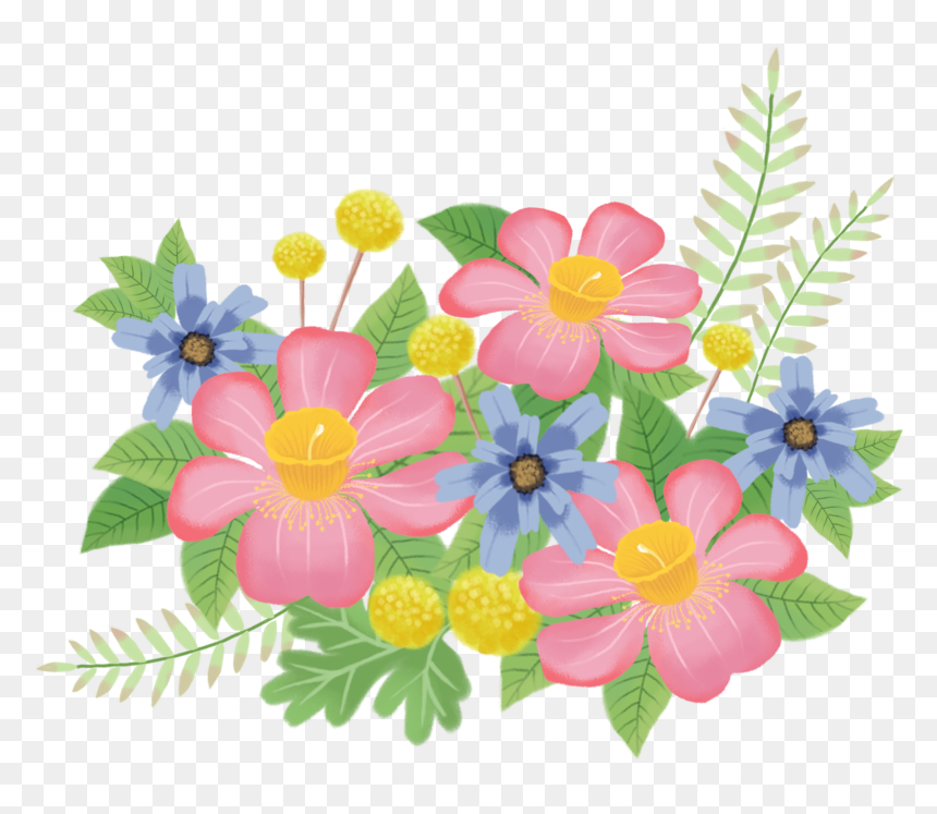 Transparent Free Clipart Bouquet Of Flowers Cartoon Flowers Png Transparent Png Download Vhv