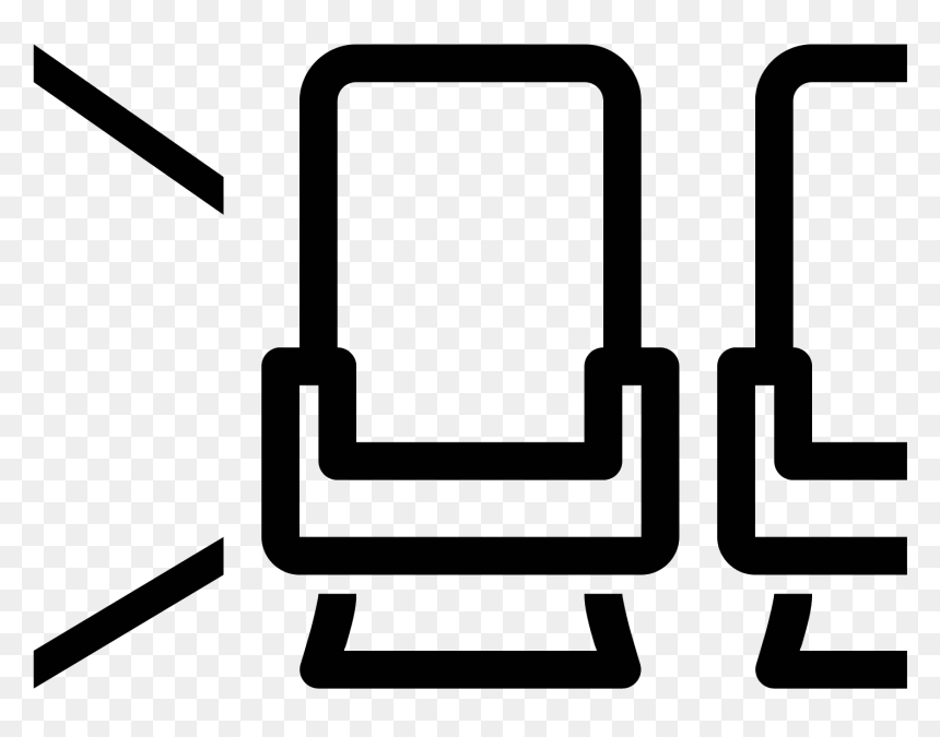 Aircraft Seat Aisle Icon Vector Airplane Seat Icon Hd Png