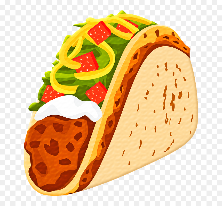 Taco Tortilla Cheese Mexican Mexico Food Design Taco Clipart Transparent Background Hd Png Download Vhv