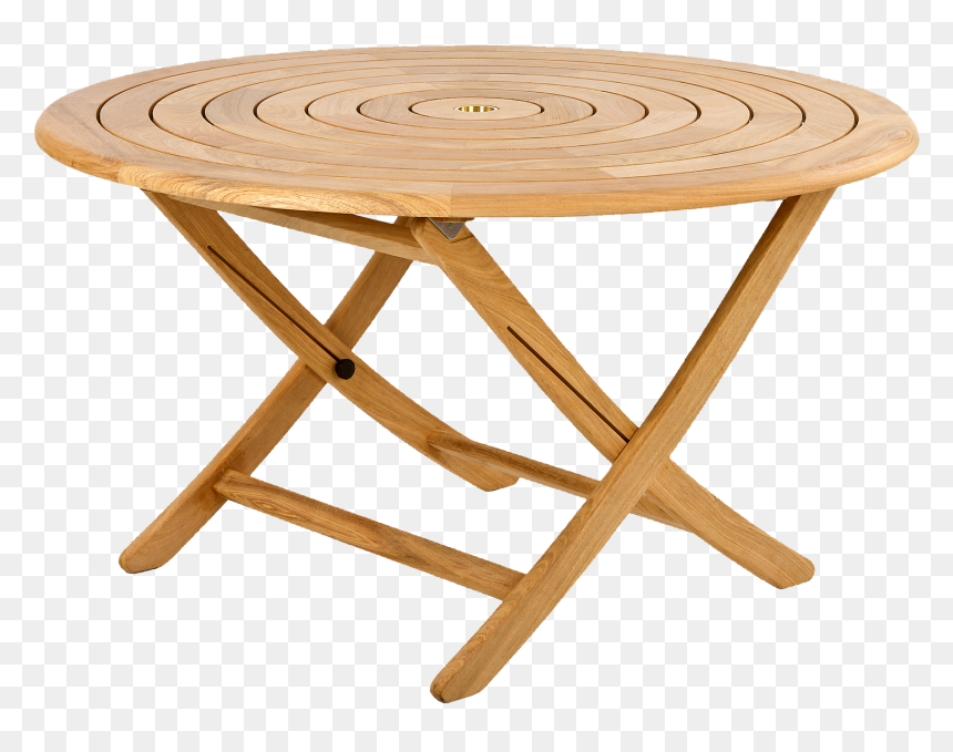 Round Wooden Garden Table Hd Png, Round Wooden Table For Garden