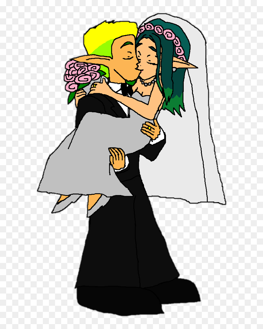 Jak And Daxter Images Jak And Keira Hagai Wedding Kiss Cartoon Hd Png Download Vhv