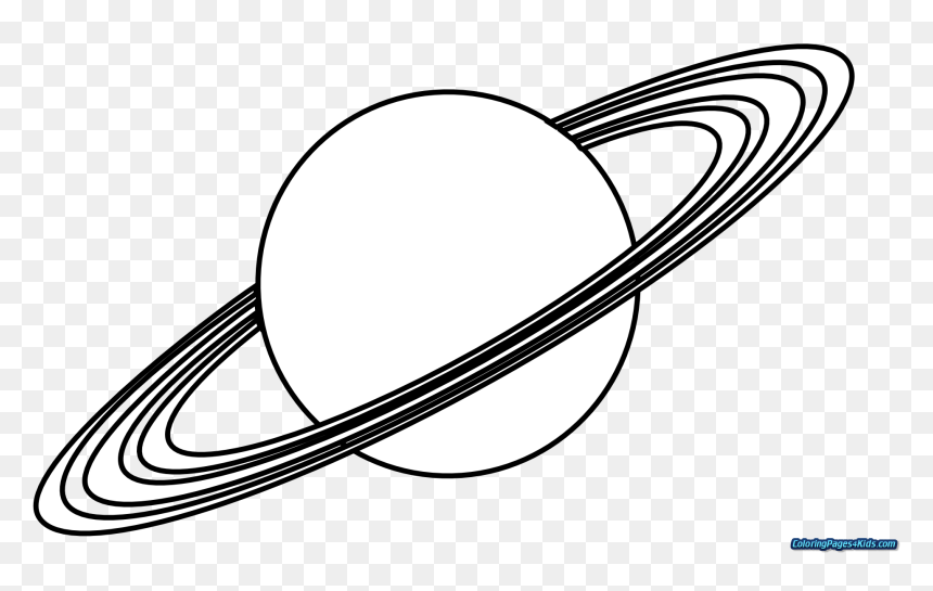 Planets Coloring Pages Of For Kids Page Space Planets Black And White Hd Png Download Vhv