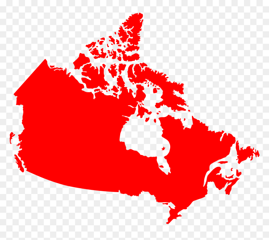 Canada Map Solid Canada Map Solid Color, HD Png Download   vhv