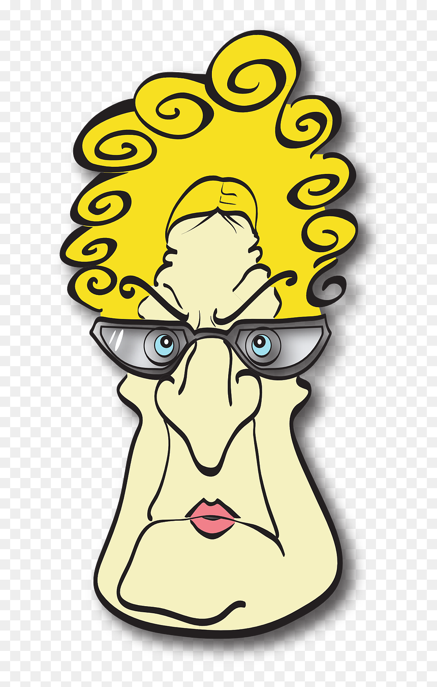 Angry Mom Clipart Cartoon Character Old Lady With Glasses Hd Png Download Vhv