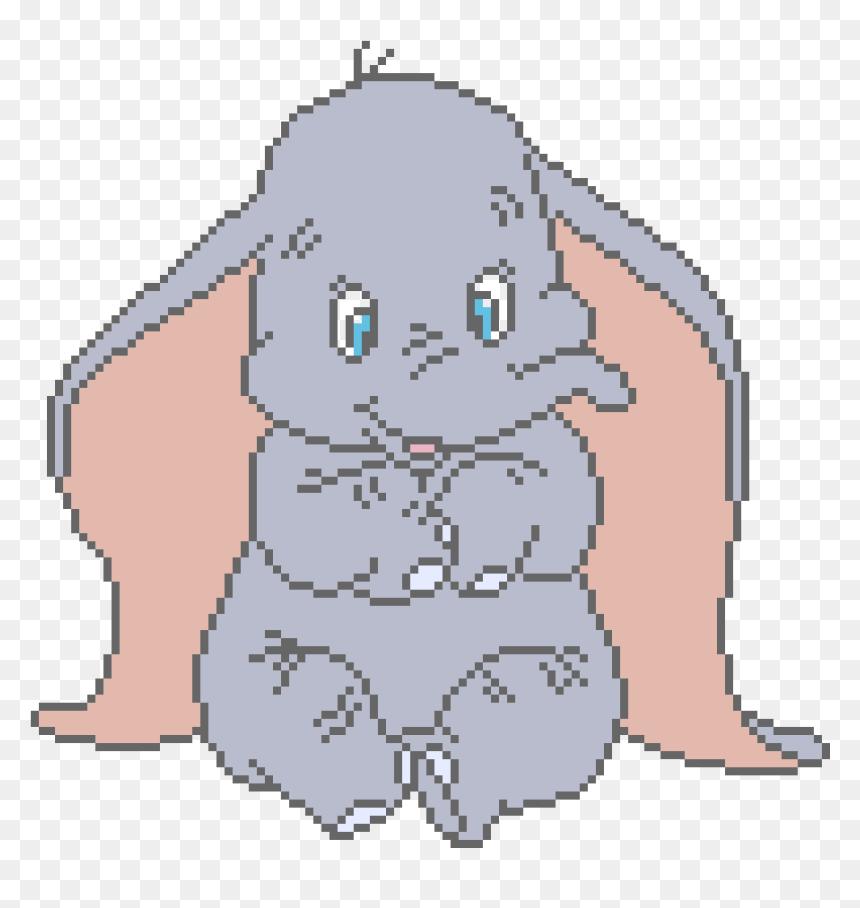 Facile Pixel Art Disney Dumbo Hd Png Download Vhv