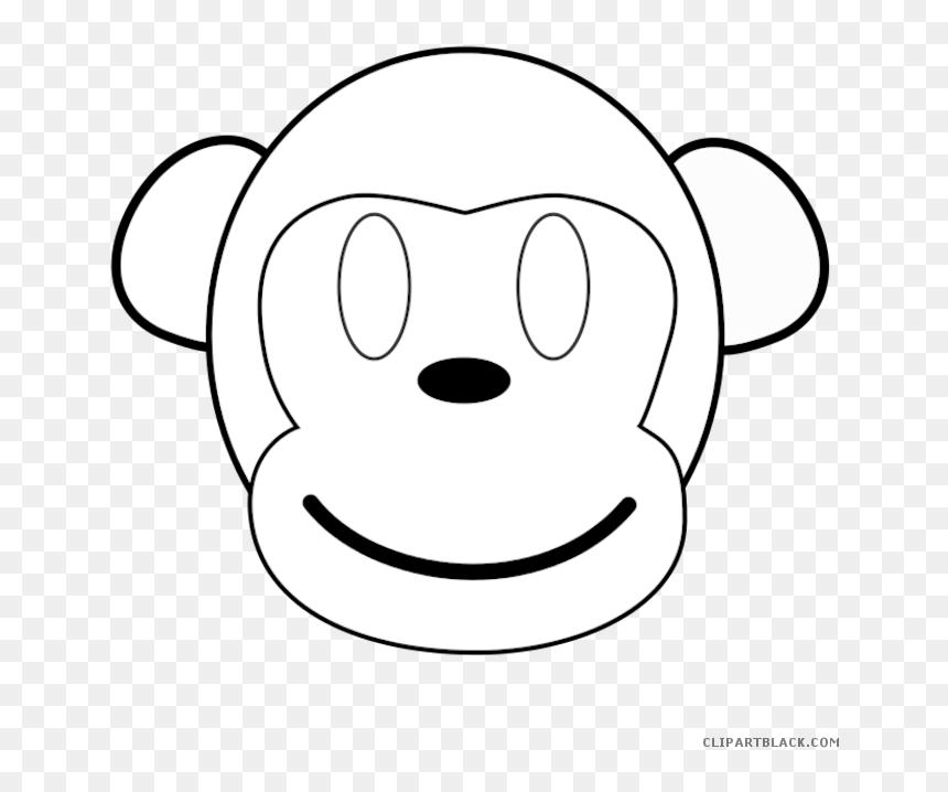 Png Black And White Outline Clipartblack Com Animal Clipart Outline Of Monkey Face Transparent Png Vhv