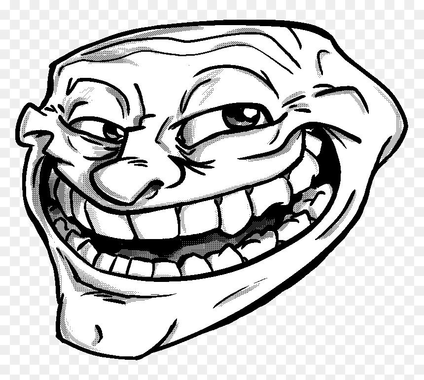 Transparent Trollface Transparent Background Png Png Download Troll Face Png Png Download Vhv