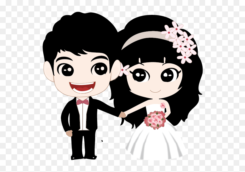 Couple Marriage Cartoon And Cartoon Black Couple Png Transparent Png Vhv