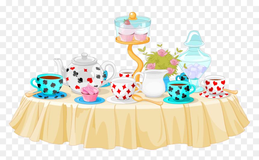 Transparent Birthday Party Clip Art Alice In Wonderland Tea Party Cartoon Hd Png Download Vhv