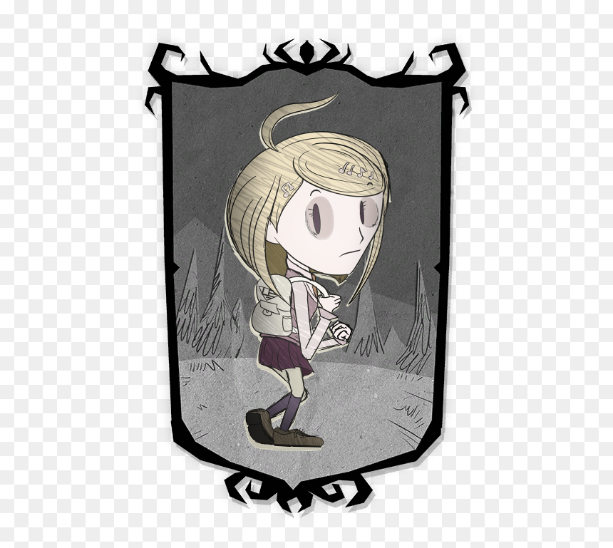 Kaede Akamatsu In The Style Of Don T Starve Png Download Don T Starve Together Character Portraits Transparent Png Vhv