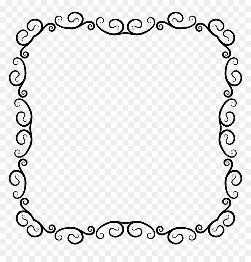 Pumpkin Border Clipart Black And White, HD Png Download - vhv