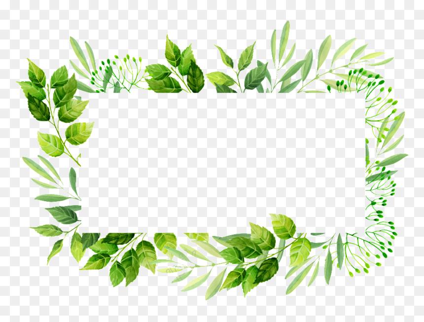 Green plant flower border background element | Simple ... |Green Flower Border