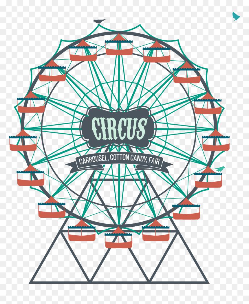 Ferris Wheel Amusement Park Clip Art Clipart Scary Ferris Wheel Hd Png Download Vhv
