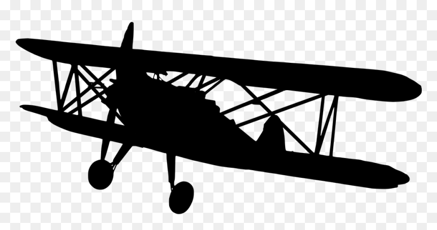 Transparent Plane Silhouette Png Old Airplane Png Png Download