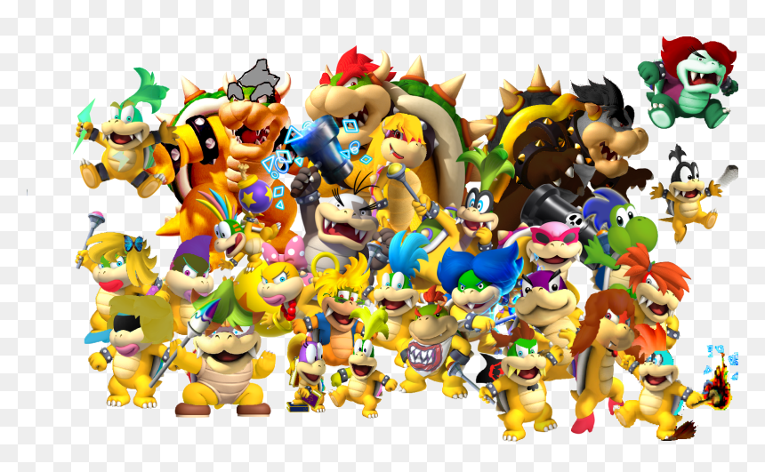 Bowser Family Coloring Pages Hd Png Download Vhv