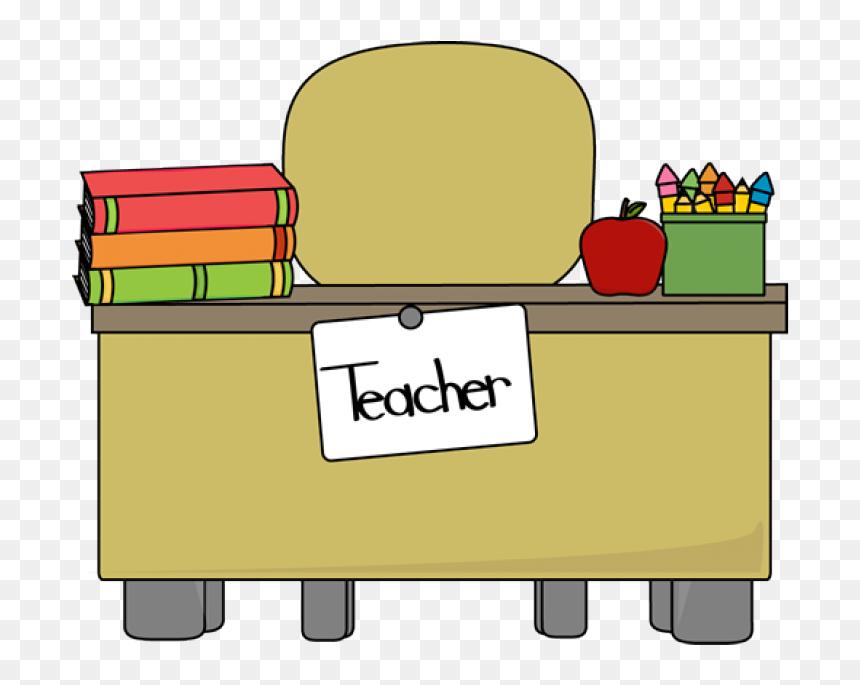 Classroom Table Clipart Teacher Desk Clipart Teachers Desk Clipart Hd Png Download Vhv