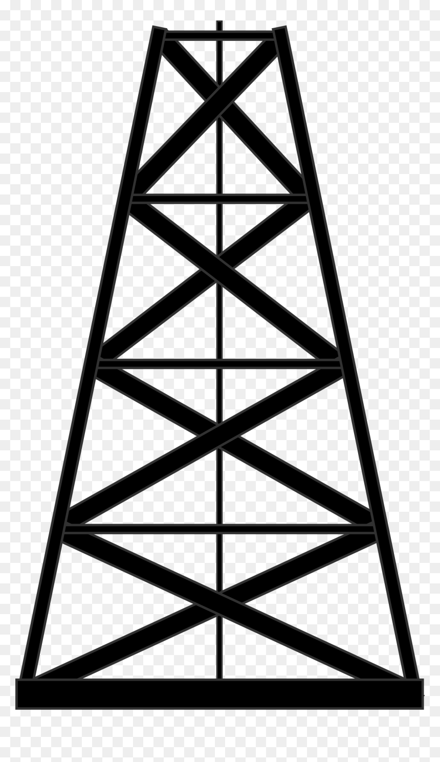 Oil Rig - Vector Graphics Clipart (#637385) - PinClipart