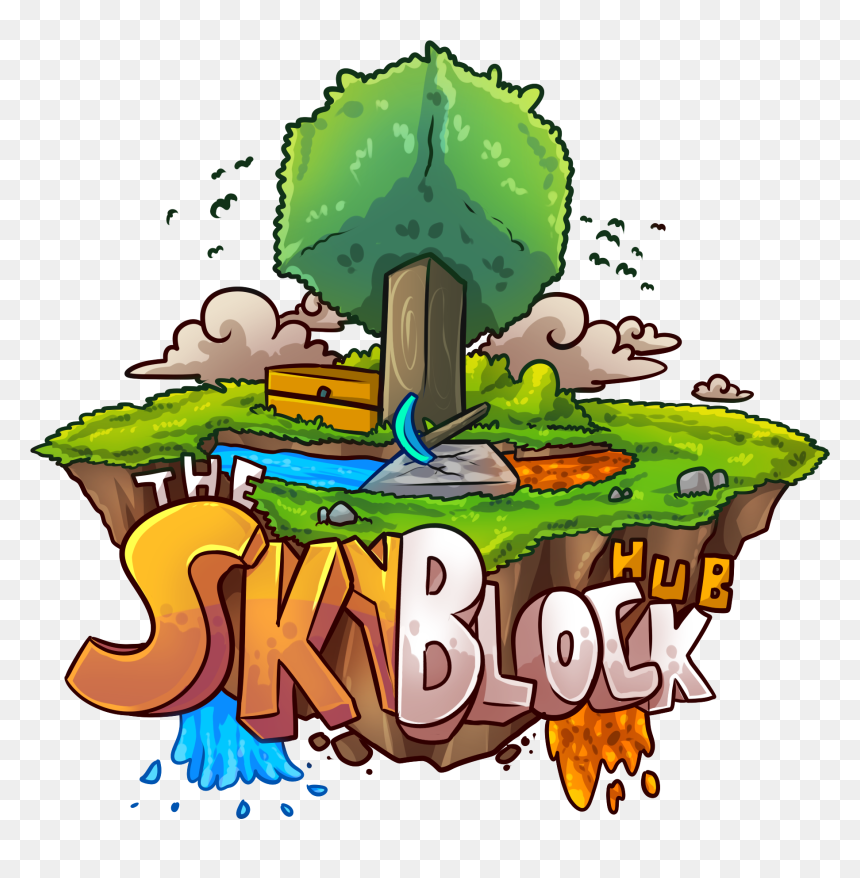 Illustration Png Download Minecraft Skyblock Server Logo Transparent Png Vhv