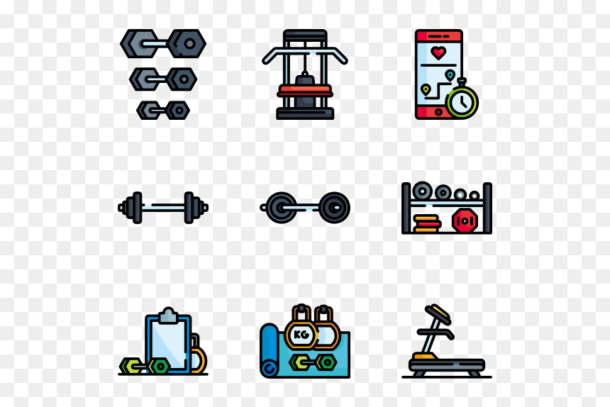 Fitness Clipart Gym Tool Gym Equipment Pixel Art Hd Png Download Vhv