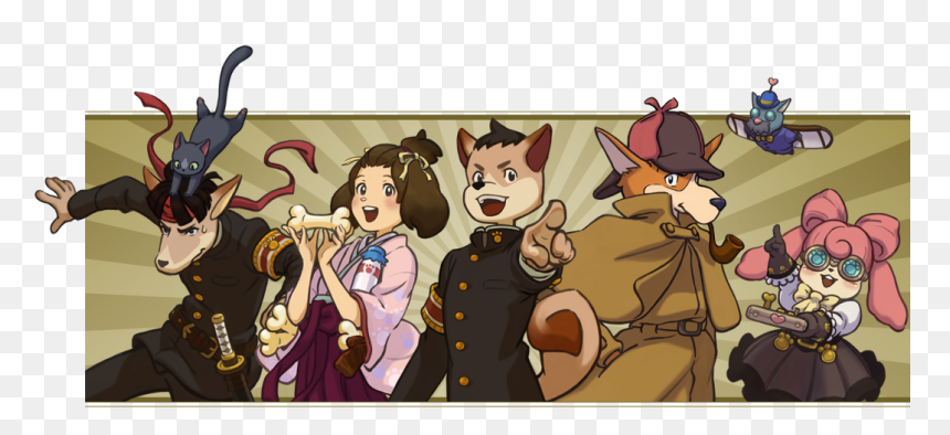 Img 01 Ace Attorney Sherlock Hound Hd Png Download Vhv