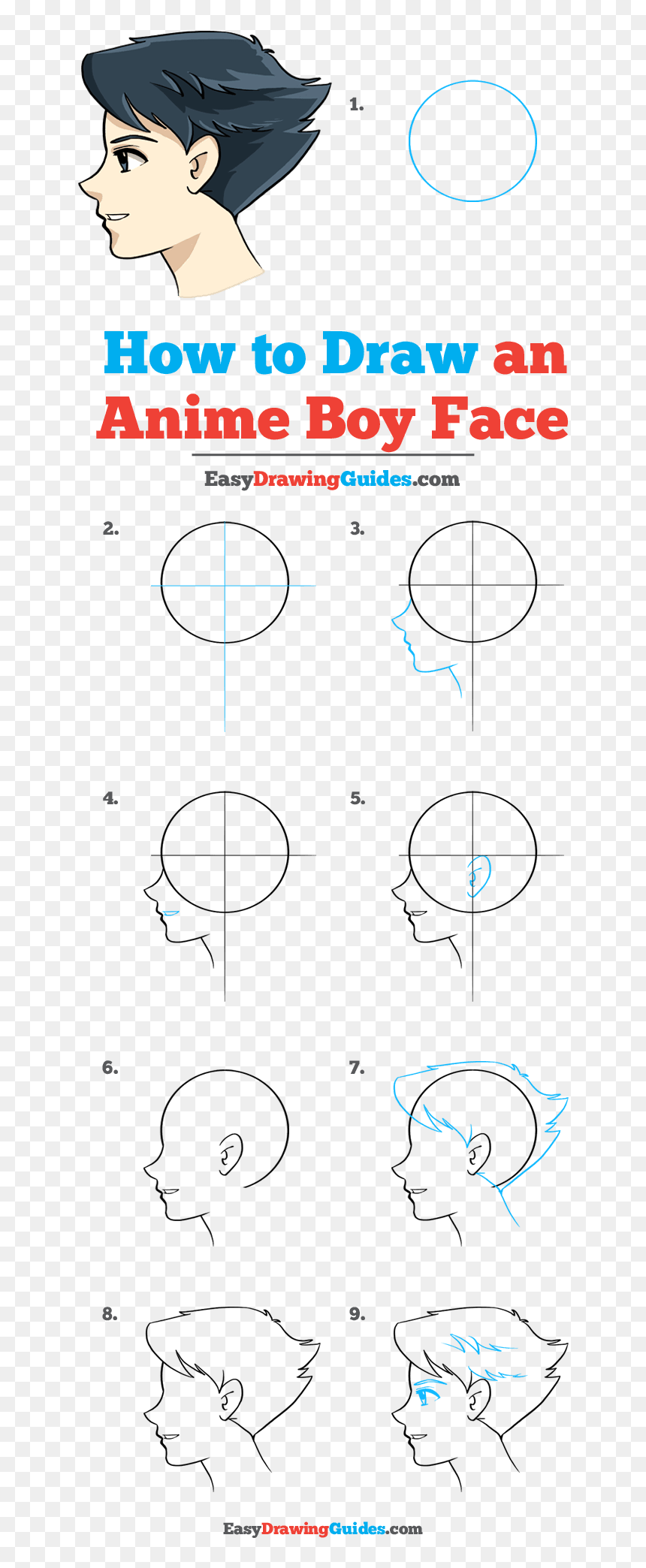 How To Draw Anime Boy Face Draw A Football Step By Step Hd Png
