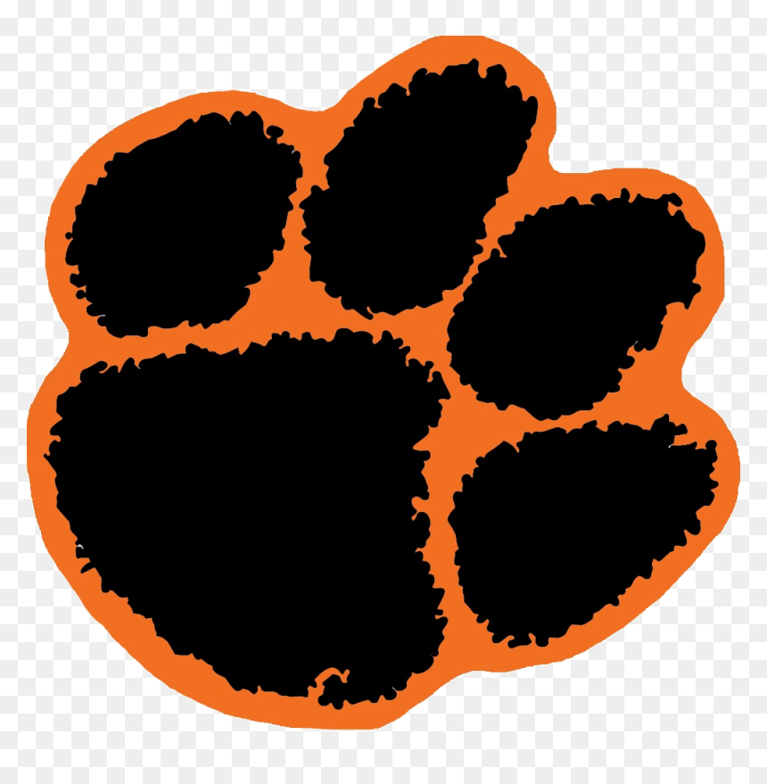 transparent tiger cheerleader clipart - clip art clemson paw print, hd png  download - vhv  vhv.rs