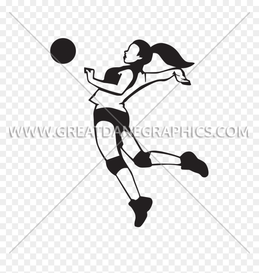 Png Volleyball Spike Spike Girl Volleyball Clipart Transparent Png Vhv