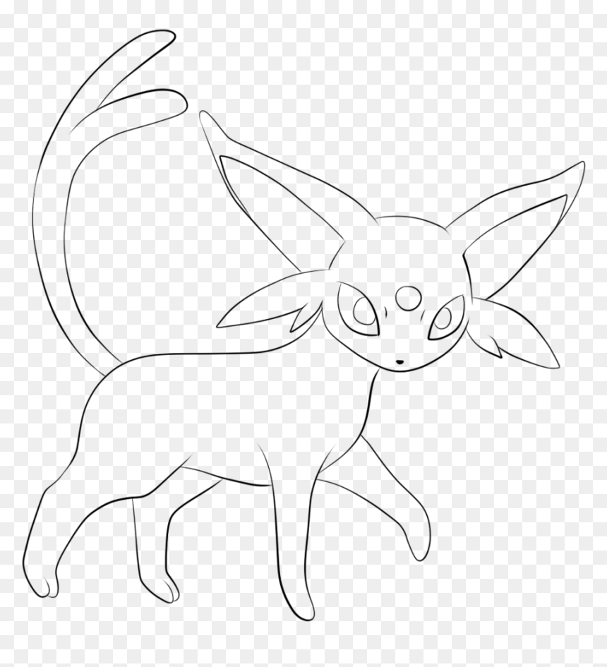 Pokemon Coloring Pages Eevee Evolutions Espeon Hd Png Download Vhv