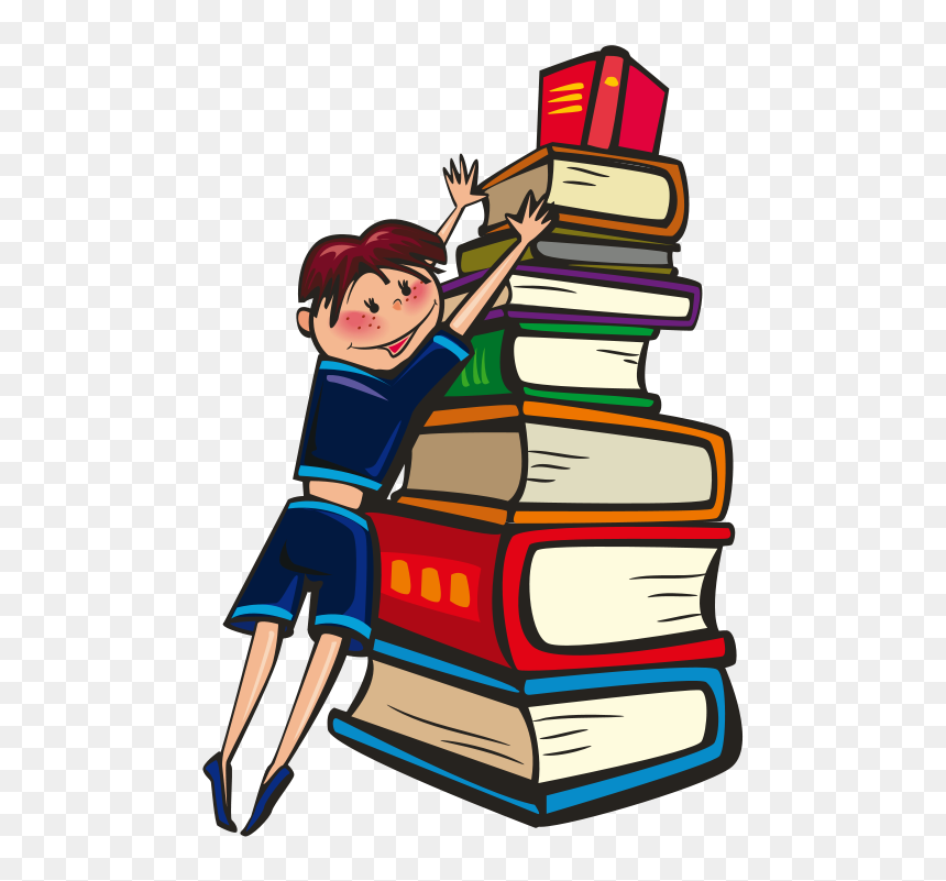 Two kids holding brown paper beside stack of two books, Book Child Reading  Illustration, two children holding paper transparent background PNG clipart  | HiClipart
