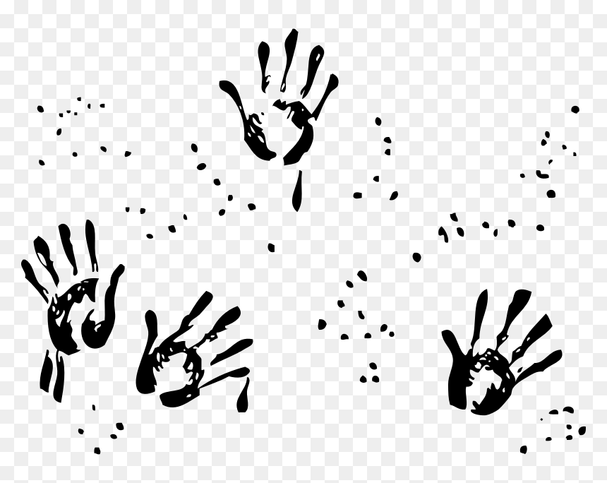 Handprints Finger Painting Clipart Black And White Hd Png Download Vhv Similar with vintage pointing hand png. finger painting clipart black and white