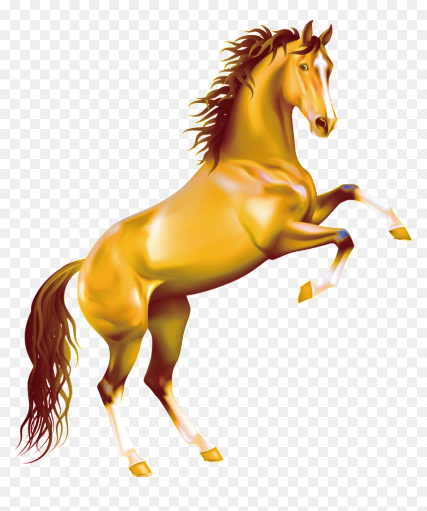 This Graphics Is Yellow Running Horse Pattern Element Rearing Horse Png Transparent Png Vhv