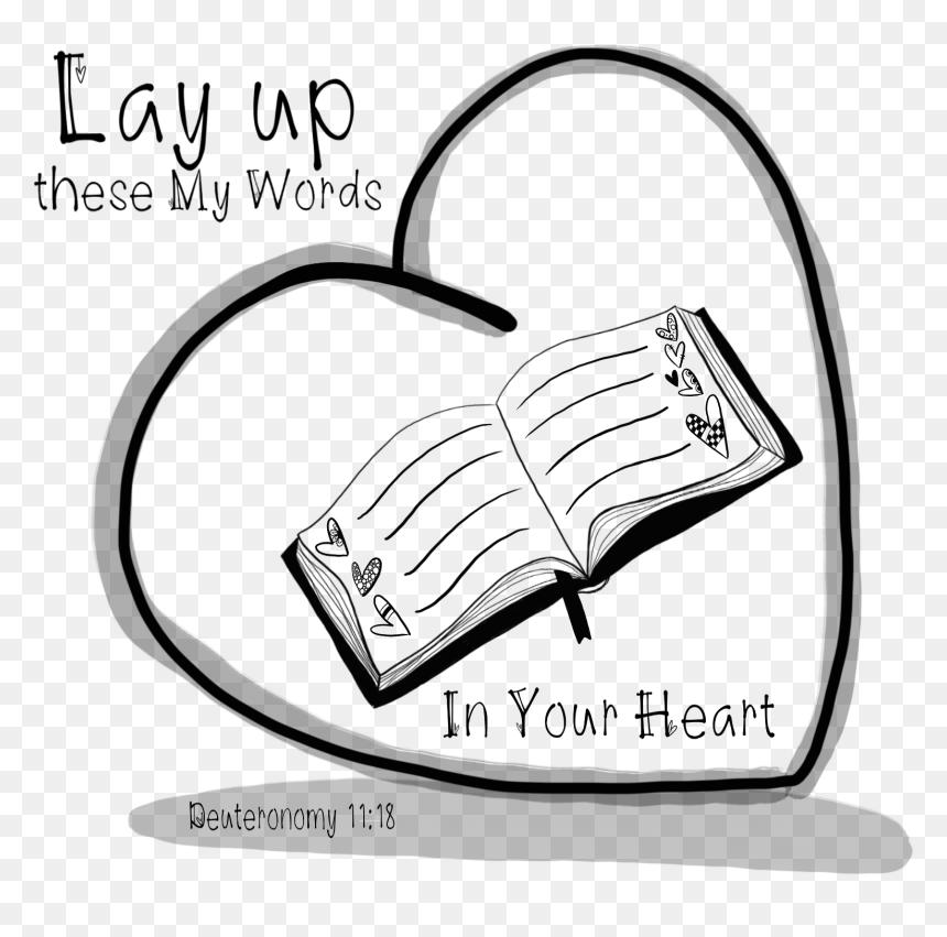 Transparent Heart Doodle Png Desenho Biblia Aberta Png Download Vhv