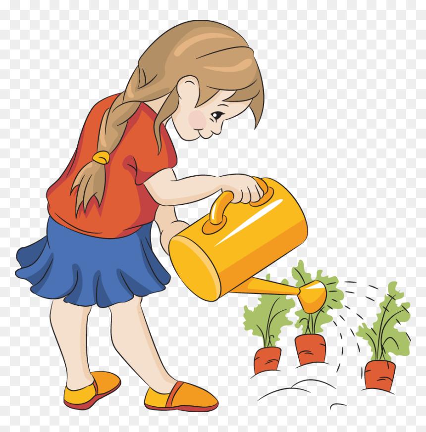 Clip Art Cartoon Gardening Pictures Watering Clipart Hd Png Download Vhv