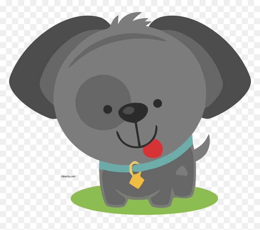 Transparent Gray Clipart - Cute Dog Clipart Png, Png ... (860 x 763 Pixel)