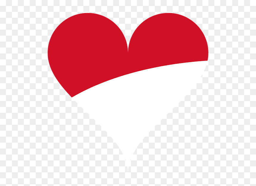 Gambar Love Bendera Indonesia Hd Png Download Vhv