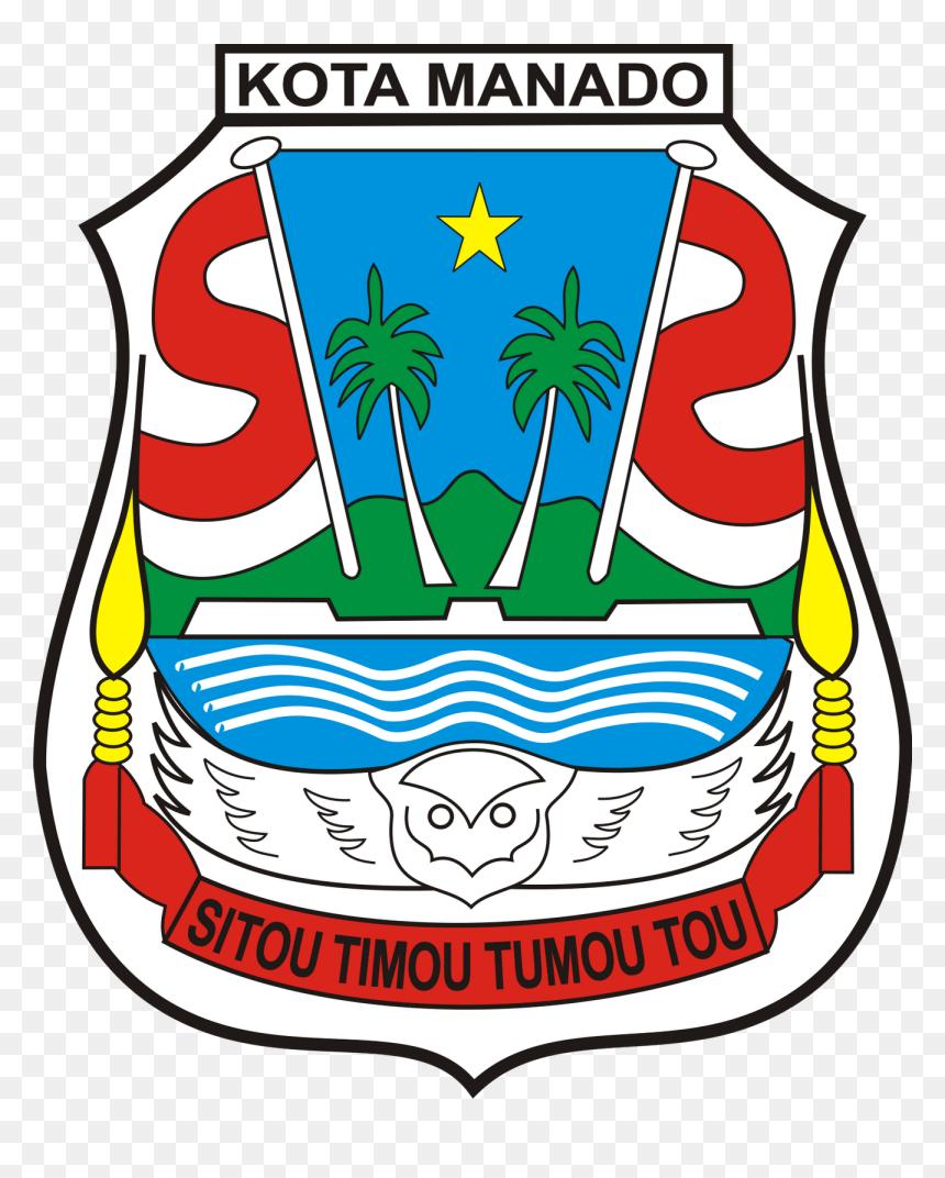 Transparent Bendera Merah Putih Png Lambang Kota Manado Png Download Vhv